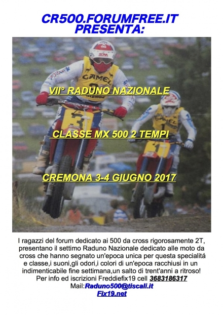 VII° NATIONAL MEETING MX500CC TWO STROKE CREMONA 3-4 JUNE 2017 - FREDDIEFIX19